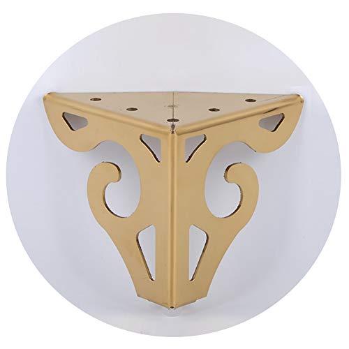 KMILE 4pcs Metall möbelfüße,Aushöhlen Sie Moderne Möbel-Zusätze,Edelstahl-Sofa-Kabinett-Beine,für Stühle/Garderobe/Teetabelle/Worktop/Regal-Bett-Stützbein aus,mit Schrauben(Gold,Silber)