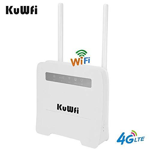 KuWFi WiFi Router 4G LTE Wireless Wireless CPE Router mit SIM-Kartensteckplatz Unterstützung LAN 4G auf Netzwerk Geräte