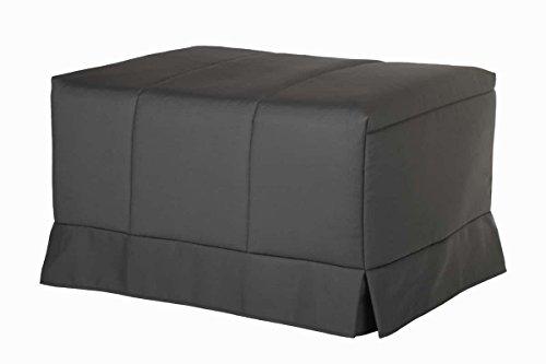 Quality Mobles - Cama Plegable Individual de 90x190 cm Funda Color Gris
