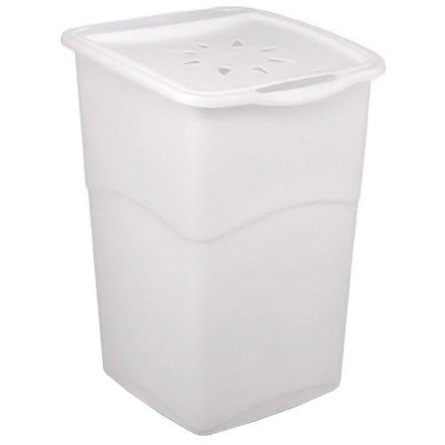 Kis 6703000 0204 02 Coffre à Ligne Koral 47 litres en Blanc, Plastique, 38x37x53 cm