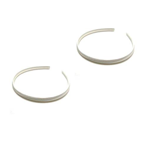 Mytoptrendz- Conjunto de 2 diademas de satén finas para el pelo, Blanco