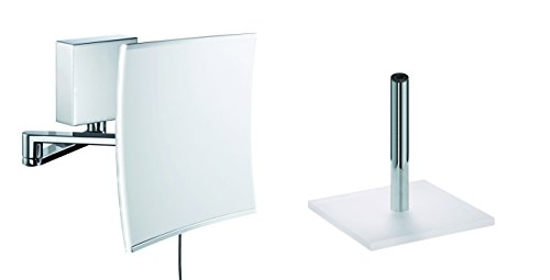 Sam Miro Kosmetikspiegel Set mit 5-fach Vergrößerung und LED