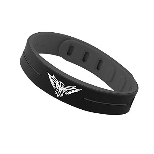 Power Band with 3000 ions, Helps Improve Circulation, Energy and Sleep. Tourmaline and Germanium Far Infra Red Rays in Natural Silicone.