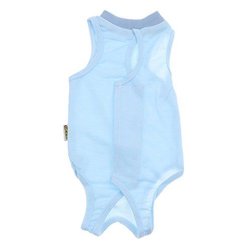 Recovery Suit Anzug für Katzen, die Wunden und Bandagen Ihrer Katze zu schützen - Blau L