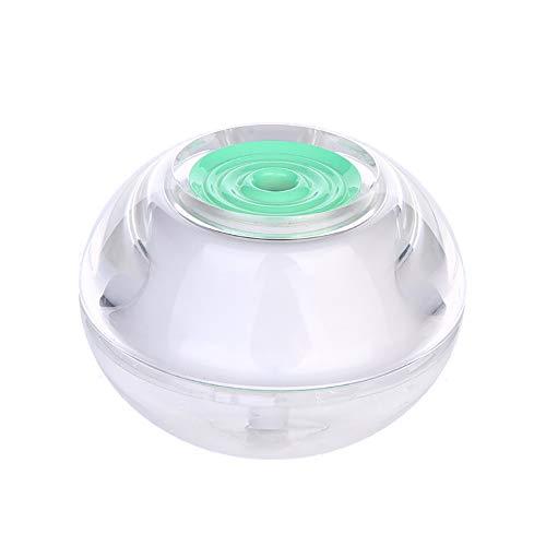 ThreeH USB Humidificador de Aire para Ojos Nariz Garganta Piel - Mini Difusor de Aroma portátil silencioso con nightlight - Apagado automático Seguro H-H012Green