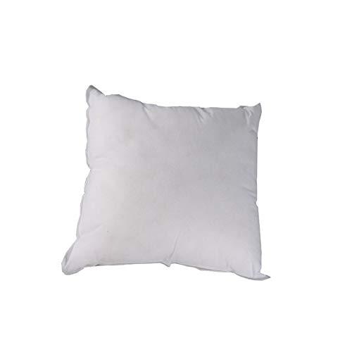 Cojín de almohada suave para el interior, para decoración de interiores, 40 x 40 cm, 3,12 cm, color blanco