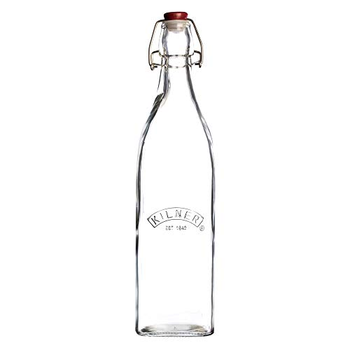 Kilner - Botella vintage, vidrio, Transparente, 8.1999999999999993 x 8.1999999999999993 x 31.8 cm