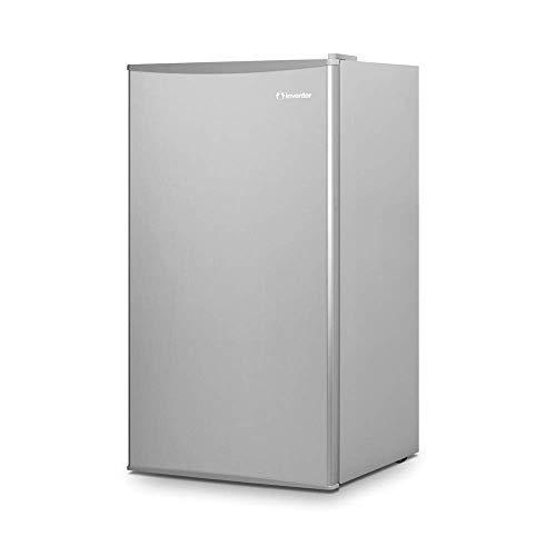 Klarstein Cool Kid Nevera de bebidas /• Mininevera /• Minibar /• 66 litros de capacidad /• 42 db /• Congelador de 4 litros /• 2 baldas /• Para solteros y casas peque/ñas /• Acero inoxidable /• Negro