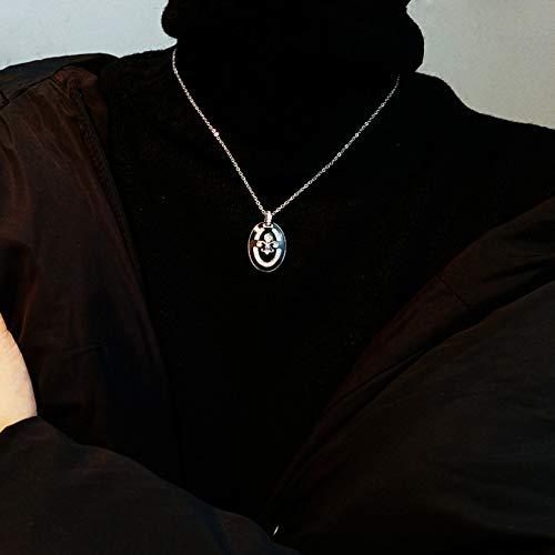 Collar Colgante Caballero Medalla Colgante Diamante Cruz Corona Collar High Street Pareja Joyería Adornos de personalidad de moda simple y moderno Collar amistad Aniversario San Valentín Regalo