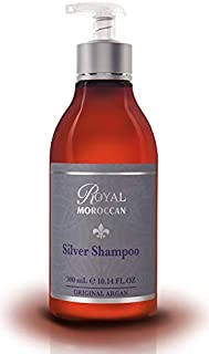 BEST SILVER SHAMPOO 300 ml /10.05 fl.oz | Purple Shampoo for Blond Hair & Grey Hair|Lights Shampoo for Blond & Silver Hair |Anti-Yellow Shampoo | Paraben-Free | Royal Moroccan Argan Oil Hair Products