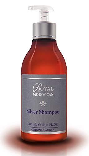 BEST SILVER SHAMPOO 300 ml /10.05 fl.oz   Purple Shampoo for Blond Hair & Grey Hair Lights Shampoo for Blond & Silver Hair  Anti-Yellow Shampoo   Paraben-Free   Royal Moroccan Argan Oil Hair Products