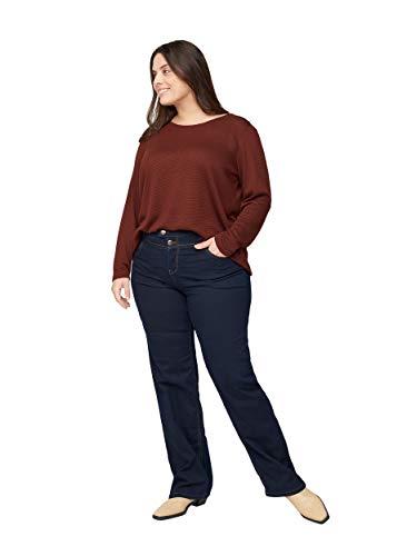 Zizzi Damen J93400A Straight Jeans, Blau (Blue 1055), 42/L32 (Herstellergröße: 42)
