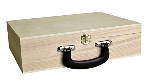 Artemio Houten koffer voor decoratie-33cm x 27cm x 9cm, Hout, 33 x 27 x 9 cm