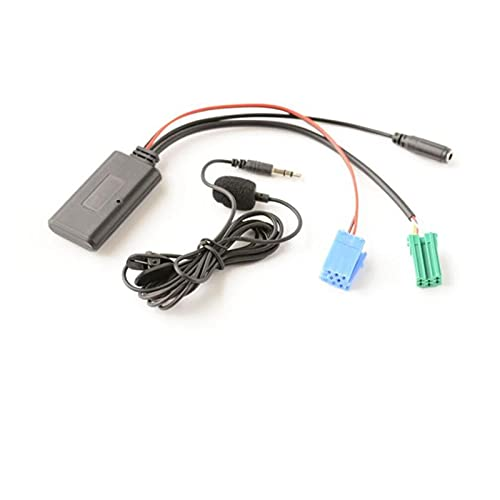 PINGYAYANG BIURLINK 300 CM COCE Stereo Mini ISO 6PIN 8PIN Conector Cable AUX Bluetooth Handshree Audio Adaptador Ajuste para Renault Updatelist Radio (Color Name : Bluetooth 6pin 8pin)