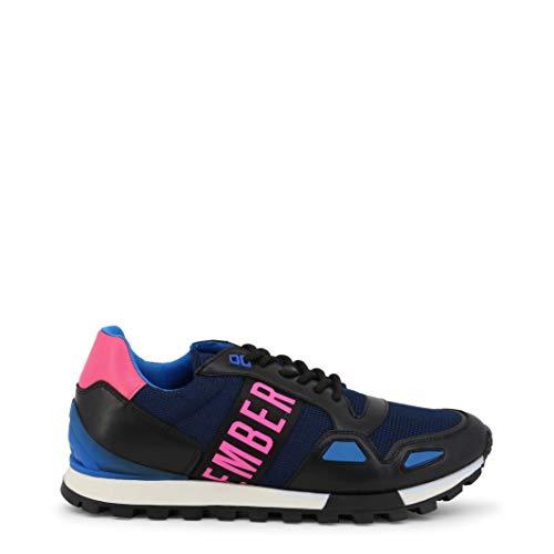 BIKKEMBERGS Scarpe Basse Sneakers Uomo Blu (Fend-ER_2232)