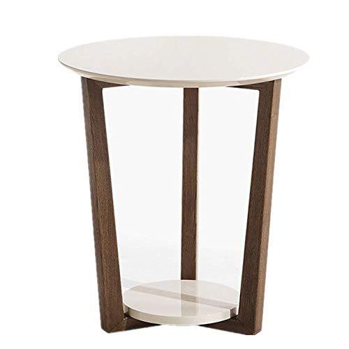 JINKEBIN Mesa Plegable de Tablas Moderna Mesa de café Café de Noche Fin Moderno Decoración de Muebles Lado de la Mesa for Sala de Estar Balcón Inicio Sofá Lado del Extremo de la Tabla (Color: Blanco,