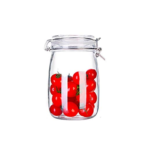 HYRGLIZI Botellas de Almacenamiento de Vidrio Frascos con Tapa Tarro de Miel de Gran Capacidad Recipiente de Cocina Sellado con Tapa Frascos de Vidrio Secret Stash (Tamaño: 1000 ml)