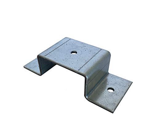 Abrazadera de tubo rectangular, tubo cuadrado, 60 x 20, 60 x 30, 60 x 40, 80 x 40, 80 x 60, 100 x 40, galvanizada (60 x 40 mm)
