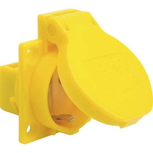 SIROX® Schutzkontakt-Einbau-Steckdosen IP 54 blau Leitungszuführung seitlich, Farbe gelb