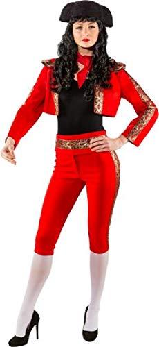 Damen Deluxe Red Matador Bull Fighter Spanish Around The World International Karneval Fasching Kostüm Outfit
