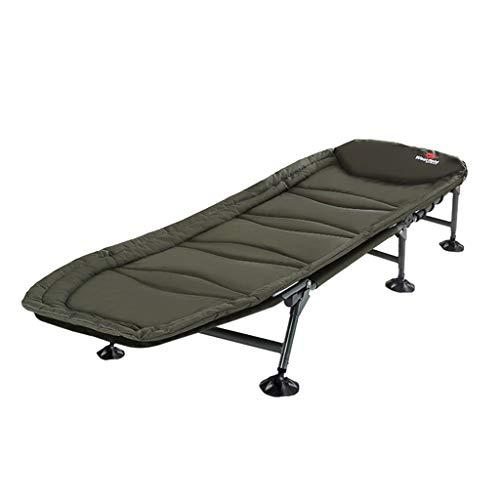 Cama portátil de pesca Silla plegable Cama de invitados para acampar |Sillón de descanso ajustable para piernas y piernas, sillón de gravedad cero con capacidad de carga de hasta 120 kg, 185x63x30cm