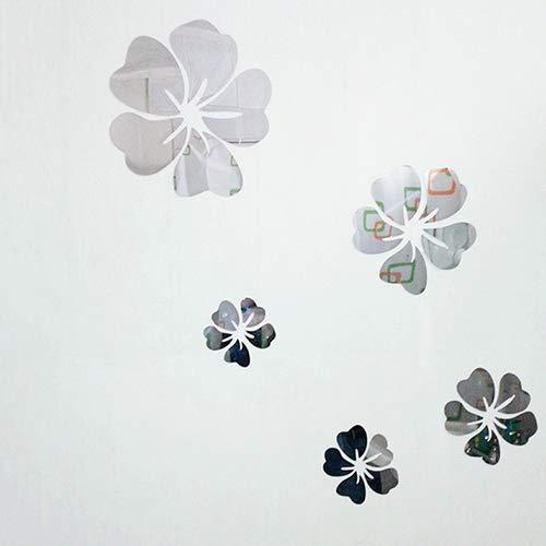 PULABO Fashion 5pcs Flor 3D Arte Espejo Adhesivo Pared Decoracion Casa Oficina DIY Decoración Superior Calidad y Creativesecurity