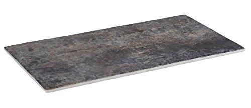 APS GN 1/3 dienblad – RockFace van melamine, 32,5 x 17,6 cm, hoogte 1,5 cm, steen-look met antislipvoetjes