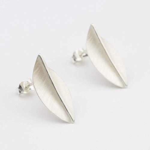 Ohrring 925 Silber Blatt Natur eleganter Ohrstecker
