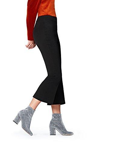 Marchio Amazon - find. Pantalone Palazzo alla Caviglia Donna, Nero (Black), 52, Label: 3XL