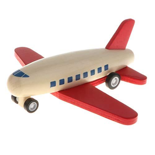 Holz Flugzeug Modellle Spielzeug Motorikspielzeug, Entwicklung der Koordination von Händen und Augen - Roter Flügel