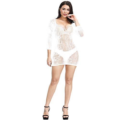 Papapai - Kimono sexy para mujer Blanco blanco Talla única