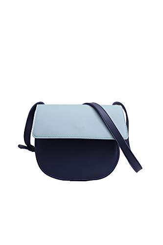 Howoo Damen Klein Satteltasche Mini Halbrund Tasche Schultertasche Handtasche Umhängetasche Blau