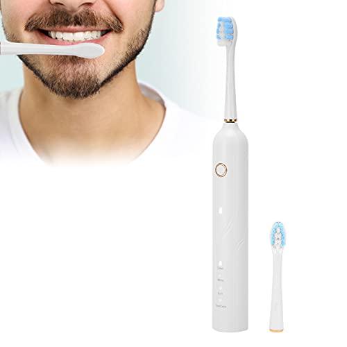 Cepillo de dientes eléctrico inteligente, cepillo de dientes sónico IPX7 Práctico cepillo de dientes recargable de larga duración para adultos para un mejor cepillado
