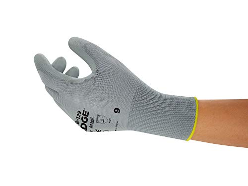 Ansell Edge 48-129 Arbeits-Handschuhe, Vielseitig Einsetzbarer Handschuh, Heimwerker-, Renovierungs- und Mechanik-Arbeiten, Grau, Größe 7 (12 Paar)