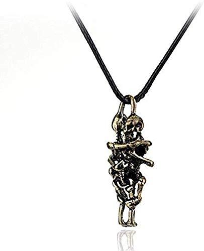 Yiffshunl Collar de Moda para Hombres y Mujeres, Collar de Amor de Calavera, Collar Infinito, Colgante de Cadena, Capas para Parejas, joyería de Regalo