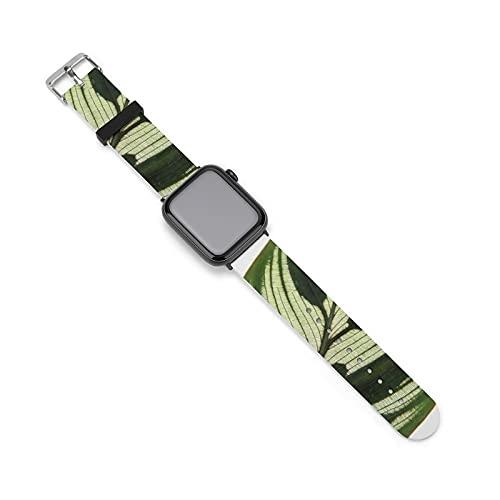 Die Silikon-Armbanduhr mit Blättermotiv im Herbstlaub und Kunstpflanze ist ein schönes Silikonarmband für Männer, Frauen und Erwachsene, wasserdicht., 38mm/40mm,