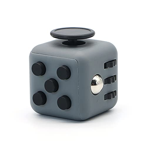 Appash Fidget Cube Stress Anxiety Pressure Relieving Toy Great for Adults and Children[Gift Idea][Relaxing Toy][Stress Reliever][Soft Material](Darkgray & Black)