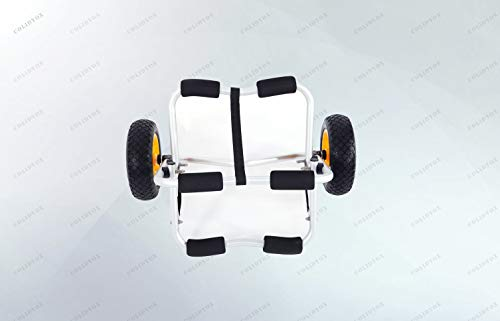 COLIBROX 1.5MM Bend Aluminum Alloy Canoeing Trailer Cart is a great way to get your boat and gear to and from the water. Easy rolling tube tires and a light aluminum frame can handle certain
