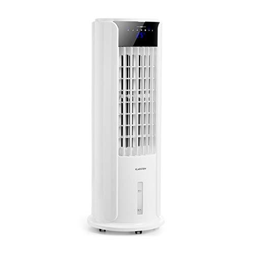 Klarstein Skyscraper Horizon - 3-in-1: Ventilator, Luftkühler & Luftbefeuchter, 60 W, Luftstrom: 486 m³/h, 3 Geschwindigkeiten, 3,5 Liter Wassertank, 8h Abschalt-Timer, leise, antikweiß