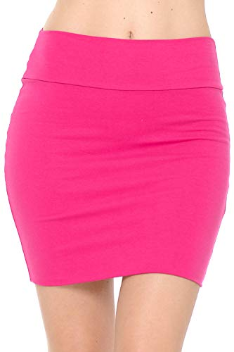 Pink Mini Pencil Skirt. Ideal for 80s Dress-Up. Other Colors Available, Women's S to XL
