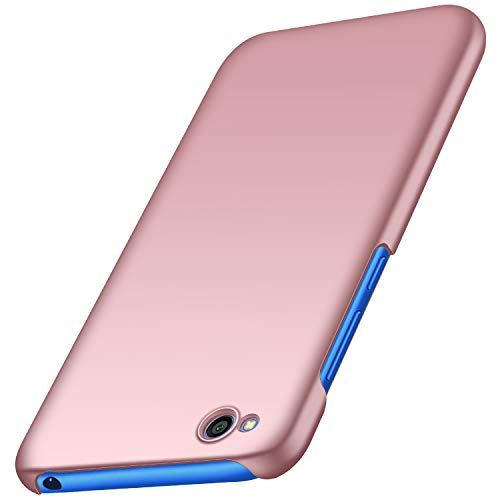 Anccer Funda Xiaomi Redmi GO, Ultra Slim Anti-Rasguño y Resistente Huellas Dactilares Totalmente Protectora Caso de Duro Cover Case para Xiaomi Redmi GO (Oro Rosa Liso)