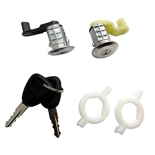 L1YAFYA 7701468981 7701468982 Izquierda + Cilindro de Barril de Bloqueo de Puerta de Coche + Derecho con 2 Llaves para Renault Megane Scenic Clio Master