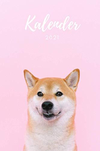 Kalender 2021: Hundekalender mit Jahresübersicht - Terminkalender mit Hundemotiv: Shiba Inu