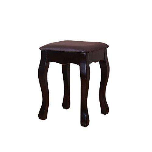 Fym Estilo de China Muebles Modernos Taburete pequeño Taburete de Madera Maciza de Color sólido Serie de Taburete Creativo, Amortiguador de heces de Esponja Suave de Alto Grado 4 cm (Color : Brown)