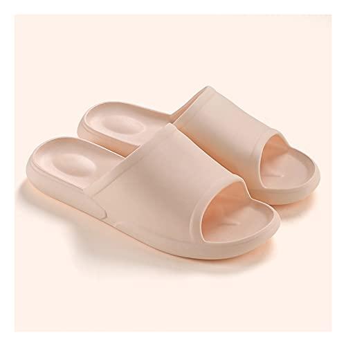 Zapatos de Playa y Piscina Sandalias de Interior Zapatillas de Espuma Plataformas de baño Antideslizantes SPA Ducha Sandalia para Mujer Sandalia Mujer (Color : Orange, Size : 35-36)
