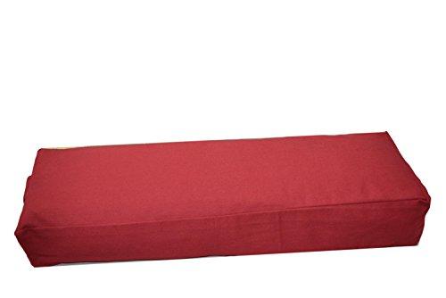 Cojín de yoga, 65x 22cm de diámetro, relleno de alforfón, Rect. Rot