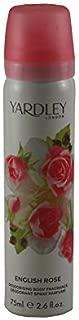 Yardley of London Refreshing Body Spray for Women, English Rose, 2.6 Ounce