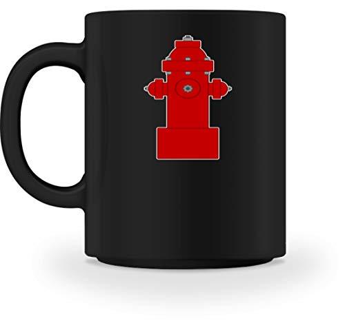 SPIRITSHIRTSHOP - Grifo para bomberos, bomberos, agua, agua, agua, agua, agua, agua, trabajo, trabajo, Cerámica, Negro, M