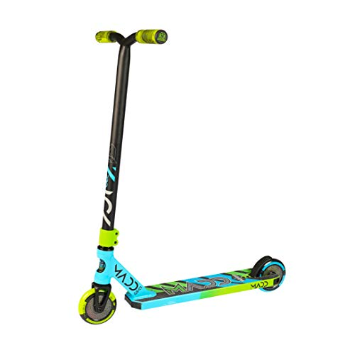 Madd Gear Kick Pro 2020 Freestyle - Patinete para acrobacias, color azul y verde