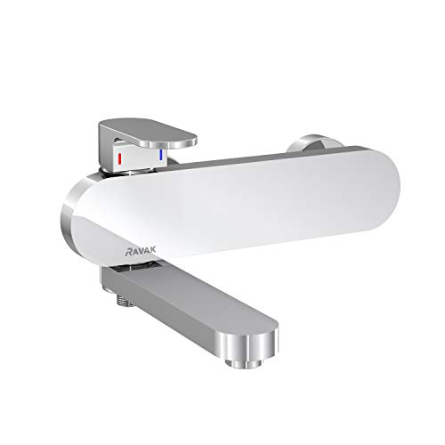Badarmatur | Einhand-Wannenbatterie Chrome | Badewannenarmatur | Einzigartige Lösung | CR 022.00/150 | RAVAK